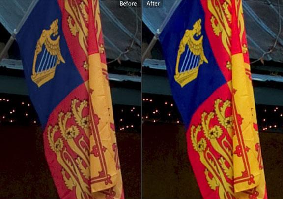 đây là hình ảnh trước và sau khi cân chỉnh màu sắc màn hình